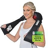 Donnerberg Masajeador Cervical y Espalda inalambrico Shiatsu con batería recargable Samsung - Masajeador de cuello con vibración y calor infrarrojo - GARANTÍA DE 7 AÑOS - Calidad Alemana