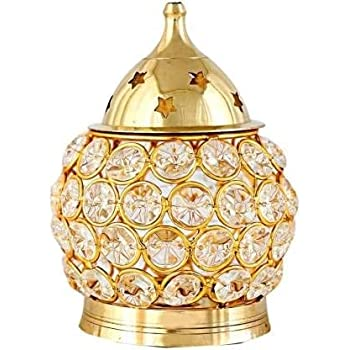 Fashion Bizz Brass Decorative Akhand Diya (Gold_24 x 11 x 7 cm)