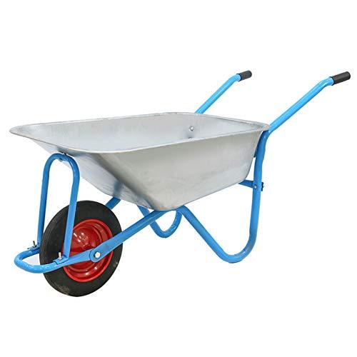 TWW Carretilla Individual Carretilla Agrícola De Una Sola Rueda Empuje Arena Y Suelo Jardín Cubo Camión Construcción Camión De Basura Hogar,Azul