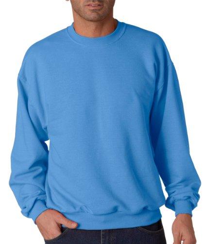 Jerzees Men's Adult Crew Sweatshirt X Sizes, Columbia Blue, 3X-Large