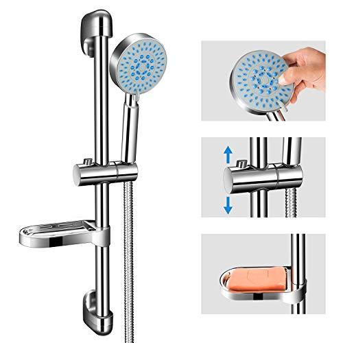 Duschset Duschstange - Duscharmatur Brausestange - PGFUNNY 5 Strahlarten Regendusche Duschsystem,Handbrause Duschsäule Duschkopf mit schlauch für Drinnen und Draußen Badezimmer Dusche