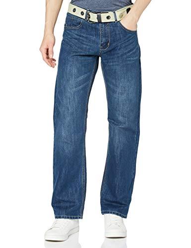 Enzo Ez15 Jeans Loose Fit, Lavaggio Medio, W30 / L32 Uomo