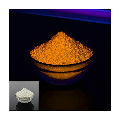 Blacklight Invisible Fluorescent Powder Pigment, Visible only at UV 365 nm Black Light Water Based (Orange, 0.35 oz(10 g))