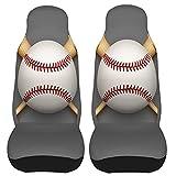 Pelota de Cuero de béisbol y Bates de Madera Fundas para Asientos de automóvil Protector de Asiento Delantero del vehículo para Interiores de automóviles Fundas para Alfombrillas de automóvil