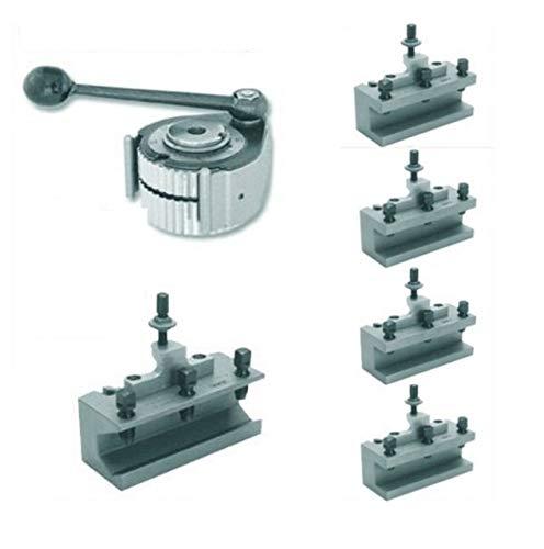 AXA K22 - Soporte de acero de cambio rápido (1 cabezal de soporte de acero + 4 soportes de acero de 120 mm + 1 soporte de acero para taladros (fabricado en Alemania)