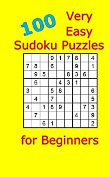 Paperback 100 Very Easy Sudoku Puzzles for Beginners Book