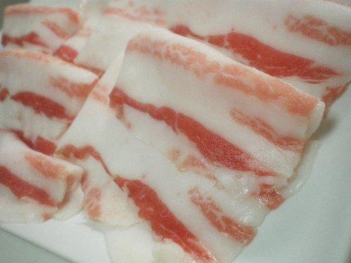スペイン産イベリコ豚 バラ肉(三枚肉) しゃぶしゃぶ用スライス 400g ベジョータ