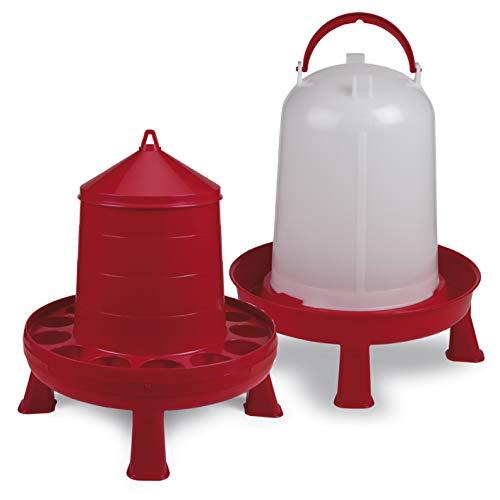 FINCA CASAREJO Pack comedero plástico con Patas 12 kg + Bebedero plástico con Patas 10 L