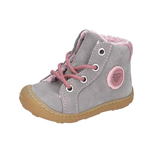RICOSTA Kinder Lauflern Schuhe Georgie von Pepino, Weite: Mittel (WMS),terracare, toben Spielen detailreich,Graphit/Blush,23 EU / 6 Child UK