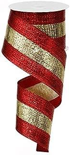 3 in 1 Metallic Wired Edge Ribbon - 2.5