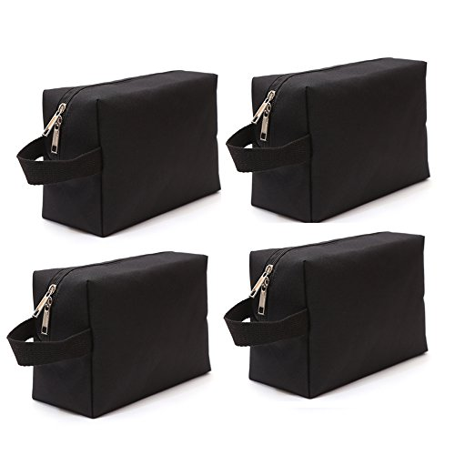 Augbunny 600D Portable Multi-Purpose Zipper Waterproof Travel Organizer Cosmetic Bag Make up Case Storage Bag Pouch 4-Pack