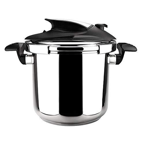 MAGEFESA Nova Olla a presión Super rápida de fácil Uso, Acero Inoxidable 18/10, Apta para Todo Tipo de cocinas, Incluido inducción. (4L)