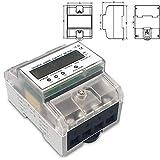 niccoo contatore elettrico a 3 fasi, contatore di corrente digitale lcd, 3 x 230/400 v 5 (80) a, misurazione diretta, wattmetro, misuratore di energia per guida din da 35 mm