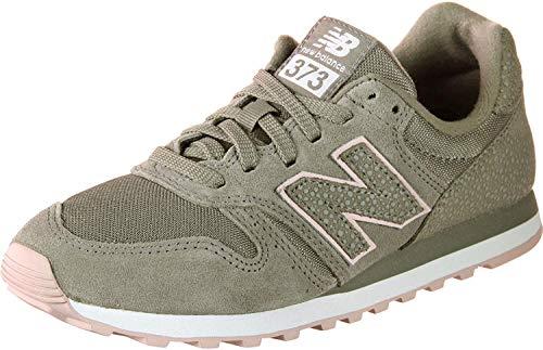 New Balance Damen WL373-MMS-B Sneaker, Grün (Oliv/rosa Oliv/rosa), 36 EU