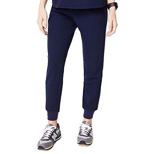 FIGS Zamora Jogger Style Scrub Pants for Women - Navy, Small Petite