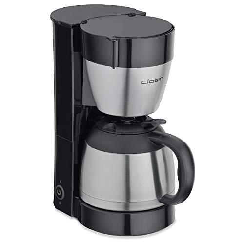 Cloer 5009 Filterkaffee-Automat Edelstahl schwarz 800 W 8 Tassen Filtergröße 1x4, Kunststoff,