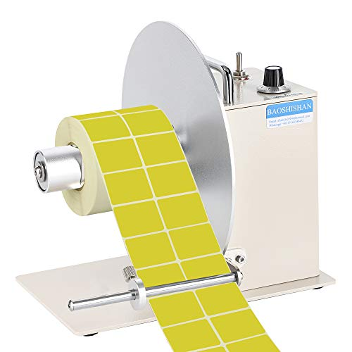 BAOSHISHAN Automatic Label Rewinder All-Aluminum Rewinding Machine Bi-Directional Speed Adjustment Width 150mm/5.9inch Core Diameter 1.5/3 Inch Synchronize with Printer (110V)