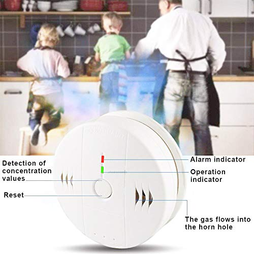 Combination Smoke and Carbon Monoxide Detector Alarm, 2-Pack GLBSUNION Beeps Warning Smoke and CO Alarms for Basements Travel Home Office Kitchen Bedroom Car, Battery Operated, Comply with UL 217/2034