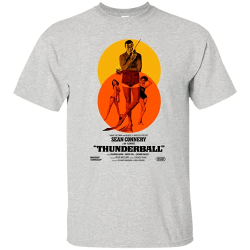 Wood Wood Thunderball 007 Sean Connery Retro James Bond T-Shirt Grey 3XL