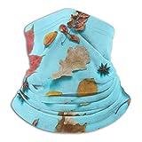ASDAH Caída de Hojas Coloridas y Calabaza en ponche Azul Elegante Calentador de Cuello vellón Diadema mágica