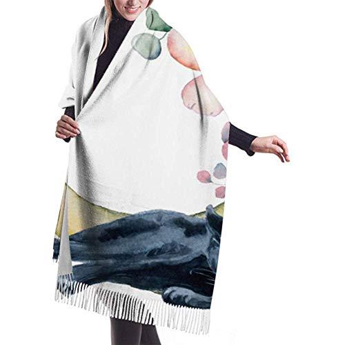 Laglacefond wintersjaal kasjmier feel compositie zwart Wiled panter bloemen sjaal wraps zachte warme deken sjaals