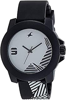 FASTRACK Unisex's White Dial Color Plastic Strap Watch - 38021PP10