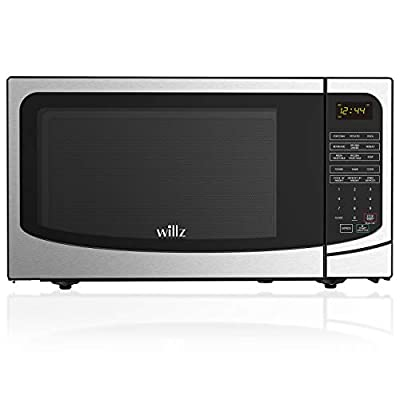 Willz WLCMB916S5-10 9 Cooking Programs, LED Lighting, Push Button Countertop Microwave Oven, 1.6 Cu Ft, Stainless Steel
