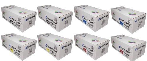 Eurotone High Quality Toner Cartridges für Samsung ProXpress C2670FW /SEE und C2620DW /SEE ersetzten 2x CLT-K505L/ELS , 2x CLT-C505L/ELS , 2x CLT-Y505L/ELS , 2x CLT-M505L/ELS Patronen im er Spar Set - kompatible Premium Kit Alternative - non oem