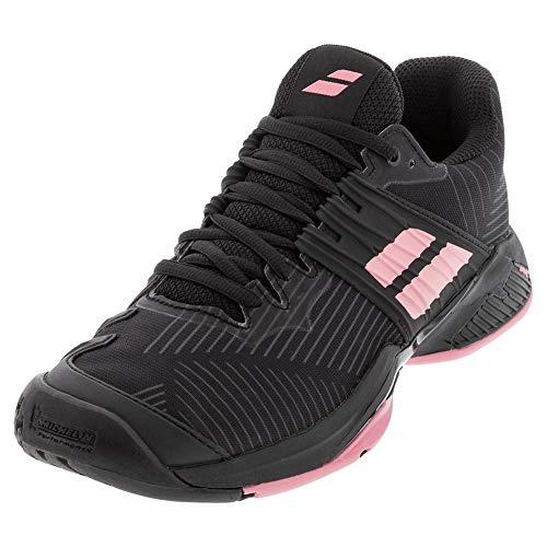 Babolat Women's Tennis Shoes, Black Geranium Pink, 6.5