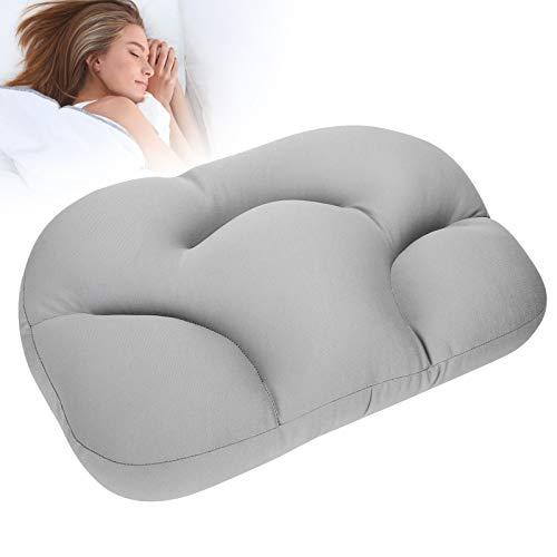Pwshymi Almohada de Espuma Almohada Apta para la Piel para Mantener la Postura de Dormir de Lado para Dormir para Mejorar la Comodidad del sueño para Mujeres y Hombres(Grey)