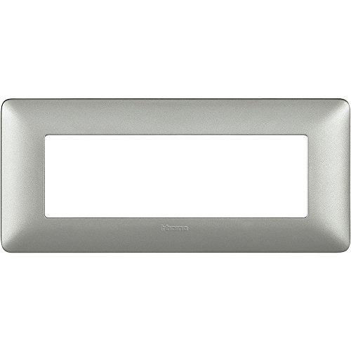 Bticino AM4806MSL Placca Matix 6 Moduli, Silver