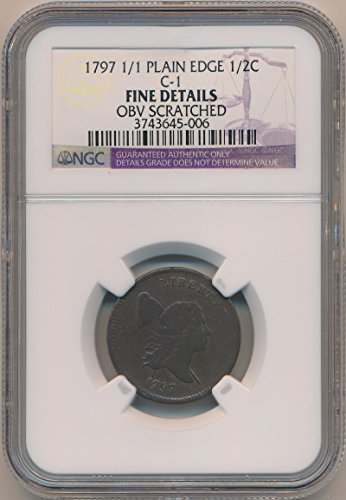 1797 P Liberty Cap Half Cent Fine Details NGC