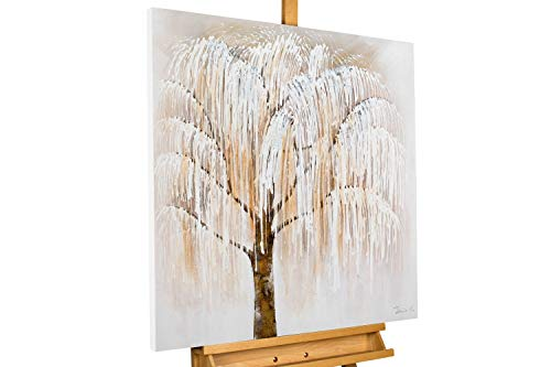 KUNSTLOFT Handgemaltes Acrylbild 'Wisdoms of Weeping Willow'