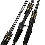 XinTengDa Caña de pescar, Super Light Ultra Hard Carbon Fiber Fishing Rod,2.0 Sección 1.98M Slow Jigging Rod Doble Polo Lento Ligeramente M/Mh
