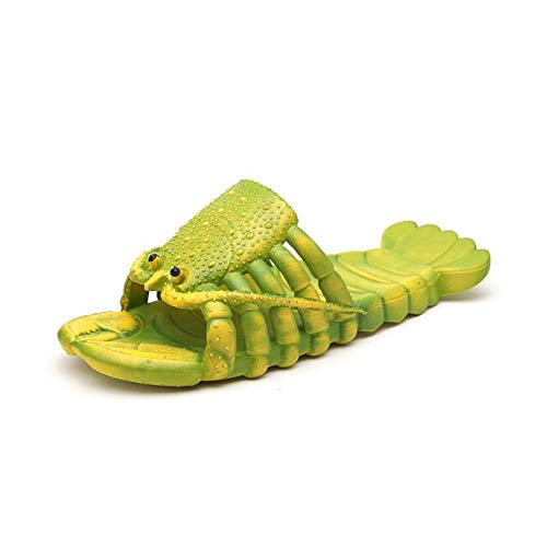 Siunwdiy Lobster Fun Parent Child Slippers Summer Lobster Slippers Fun Animal Room Shoes Beach Swimming Pool Slippers Creative Shower Sandals Casual Slippers,Green,40/41