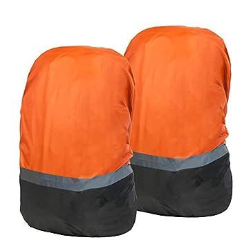 JTENG 2pcs housses de pluie imperméables pour sac à dos étanche pour sac à dos de plein air Sac à dos réfléchissant pour la pluie/la poussière, l'alarme, le cyclisme, la randonnée, le camping