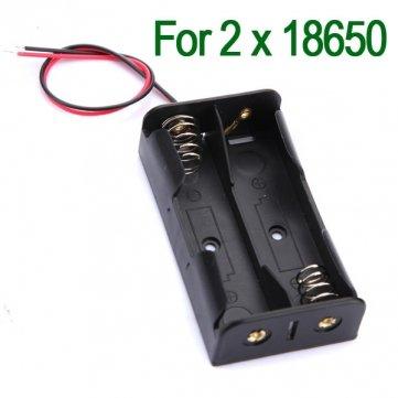 Hochwertige Kunststoff- Batterie-Speicher -Fall-Kasten -Halter für 2x18650 Mit 6