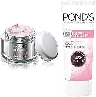 Lakmé Perfect Radiance Fairness Day Creme 50 g & Pond's White Beauty Spot Less Fairness Face Wash, 200 g