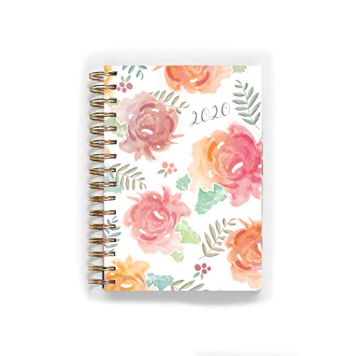"2020 KIT Lite Daily Planner - Chic Women's Organizer with Monthly Calendar – Spiral Bound Appointment Book – Schedule Your Business Day – Agenda with Premium Paper, 5.5 x 8"", Floral"