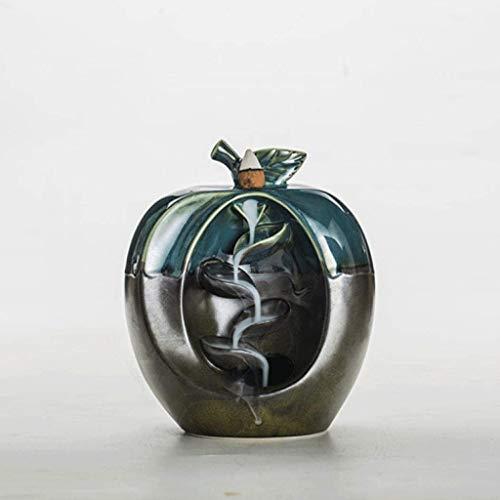 DAGONGREN Quemador de Incienso, Quemador de Incienso de cerámica de Reflujo aromaterapia Horno aromático Olor de Ministerio del Interior Crafts