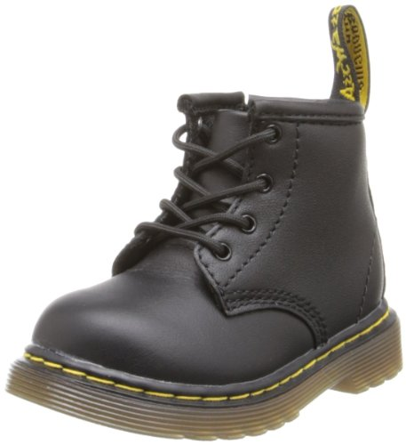 Dr. Martens BROOKLEE B Softy T BLACK Unisex-Kinder Bootsschuhe, Schwarz - Noir (Black Softy T), 19