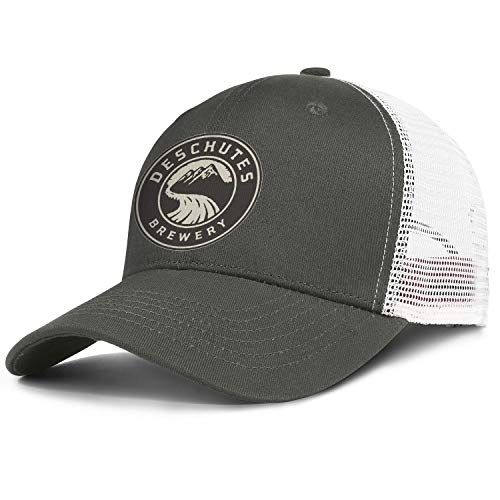 Unisex Original Deschutes-Brewery-Yellow-Logo- Baseball Cap UnconstructedWalking Dad Hat