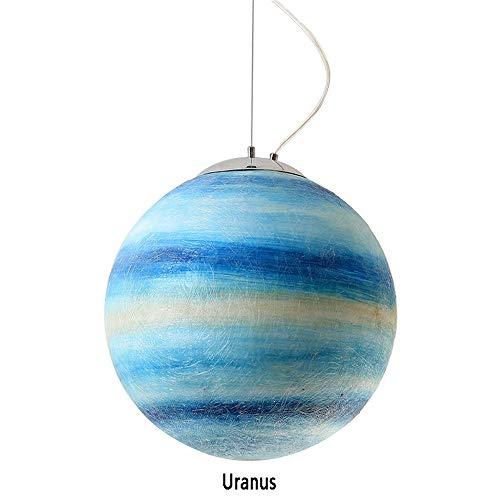 J.W. Planet Chandelier Nordic Creative Harz Decke Pendellampe E27 Lampenschirm CE/ERP-Zertifizierung Universum Erde Sonne Mond Venus Jupiter Uranus Mars Saturn Pendelleuchte,Uranus,Ø15.7in