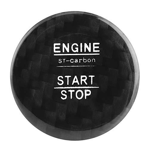 Cubierta de botón de inicio Resistente a la suciedad Durable para el coche (negro)