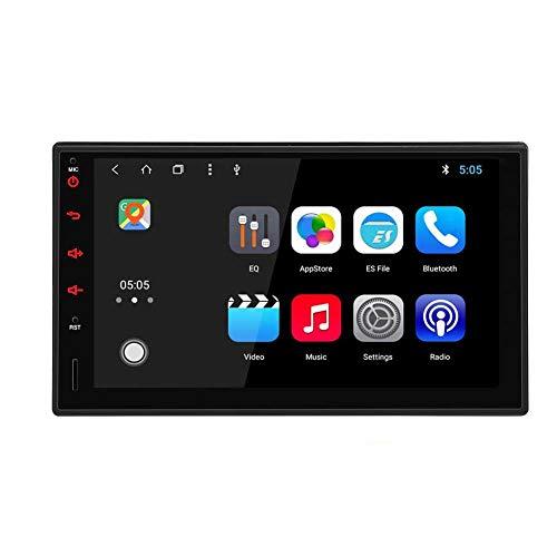 EINCAR Autoradio Doppio DIN con Bluetooth Android 10.0 Radio Touchscreen da 7 Pollici Navigazione GPS Controllo del Volante WiFi Ingresso USB Collegamento Specchio 1080P Lettore Video AM/FM/RDS