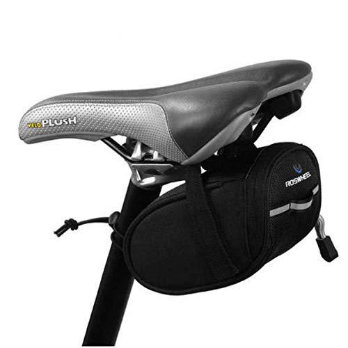 BESPORTBLE Bolsa de Sillín de Bicicleta Bicicleta Debajo de La Bolsa del Asiento Paquete de Cuña para Bicicleta de Montaña Negro