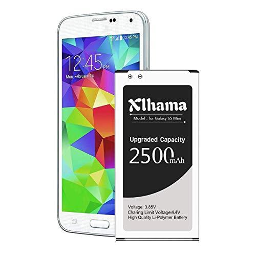 Xlhama interner Akku-kompatibler Ersatz für Samsung Galaxy S5 Mini 2300 mAh Entspricht dem EB-BG800-kompatiblen Modell Galaxy S5 Mini SM-G800F Lithium-Ionen-Akku ohne NFC