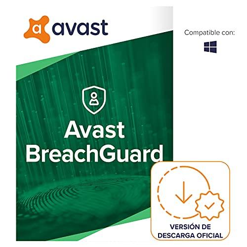 Avast Breach Guard - Protección en línea contra la filtración de datos confidenciales - Software para descargar | 1 Dispositivo | 1 Año | PC Mac | Código de activación enviado por email