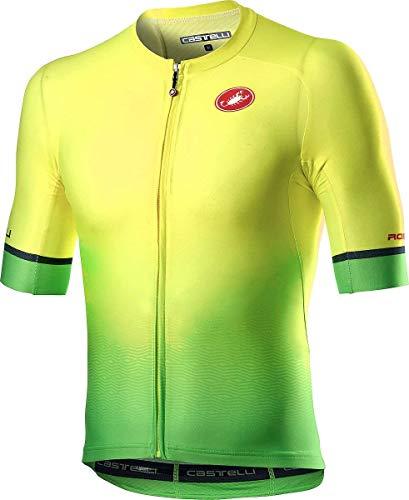 Castelli 4520011-032 AERO RACE 6.0 JERSEY Uomo yellow fluo/green fluo M