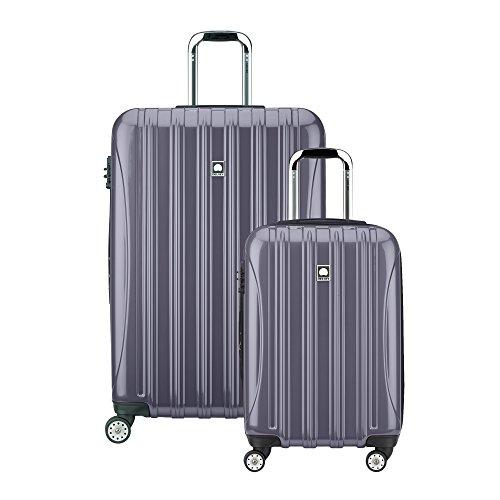 """Delsey Luggage Helium Aero Spinner Luggage Set (21""""/29""""), Titanium"""